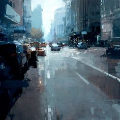 Approaching the Flatiron. 24 x 24 in, oil on panel. Jeremy Mann