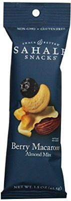 Sahale Snacks Grab and Go Almond Mix, Berry Macaroon, 1.5 Ounce (Pack of 18)