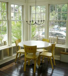 Yellow chairs would go with my white table in my dining room. #springintothedream