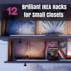 It's not about the size of your closet, it's about how you maximize the space you have. IKEA is a great place to start! Plenty of their pieces can be DIYed and used to help you make the most of your storage space!