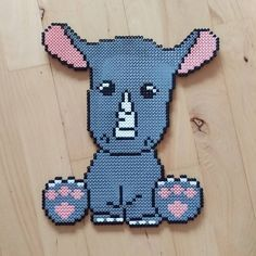 Rhino hama beads by frk.freja