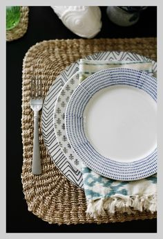 who says everything has to match? Fabulous table setting