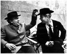 Fellini and Mastroianni