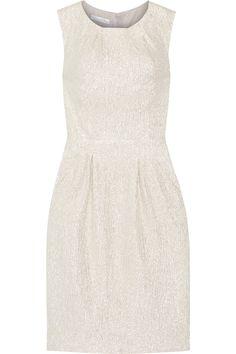 OSCAR DE LA RENTA Metallic silk-blend dress. #oscardelarenta #cloth #dress