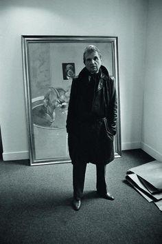 Francis Bacon (artist) fotografato da by Derek Hudson, Parigi, 1976.