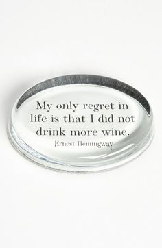 Ben's Garden 'My Only Regret' French Crystal Paperweight available at #Nordstrom  Who doesn't love this?!