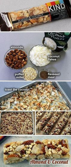 Homemade KIND Bars - copycat recipes for 8 popular varieties of these high protein, energy, & nutritional nut bars clean eating for sports nutrition #clean #athlete