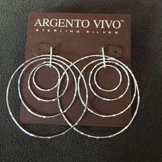 Sterling Silver Argento Vivo Earrings NWT - http://designerjewelrygalleria.com/argento-vivo/sterling-silver-argento-vivo-earrings-nwt/