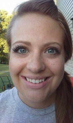 Look at the difference!!! Love Younique 3D Fiber Lashes!!! Order at http://fostersfabulashes.com
