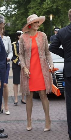 Queen Maxima Photos - King Willem-Alexander and Queen Maxima of The Netherlands visit the community center during their regional tour of north west Friesland province on June 4 2016 in Sint Annaparochie, Netherlands. - King Willem-Alexander and Queen Maxima Of The Netherlands Tour Friesland Province