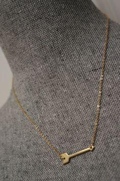 Mini Arrow Necklace by Links & Locks on Etsy, $20.00