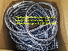"Whipcheck safety cable (Whipcheck cable de Seguridad)   Size:1/8""   3/16""  1/4""  5/16"" 3/8""   Length:    20-1/2""     38-1/4""  44""   3MMX0.5m to 1/8"" X 20.25  6MMX1m to 1/4"" X 38  8MMX1m  to  5/16"" X 38    Material: steel, stainless stainless"