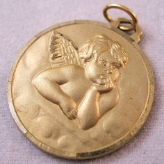 Guardian Angel 14K Gold Filled Charm by BrightEyesTreasures, $27.50
