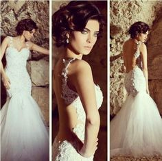New Sexy Sweetheart White/Ivory Mermaid Wedding Dress Custom All Size  $155