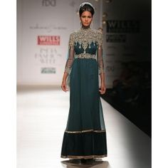 Peacock Green Dress with Sequins