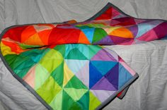 Modern Colorful Lap Quilt Baby Quilt Throw Quilt or by QuiltsbyDSJ