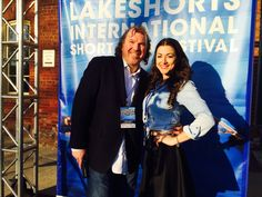 With Ruth Fernandes at the Opening Night of the 5th Annual Lakeshorts International Short Film Festival accepting BEST ORIGINAL FILM for Patricia Chica's SERPENT'S LULLABY.
