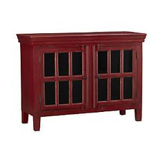 "Rojo Red 46"" Media Storage Cabinet@ Crate and Barrel"