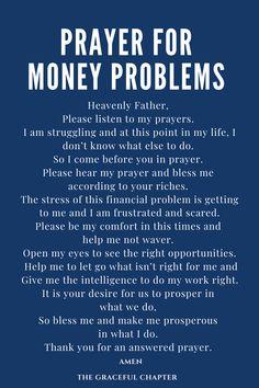 Prayer For Financial Breakthrough - The Graceful Chapter Prayer Scriptures, Bible Prayers, Catholic Prayers, Faith Prayer, Prayer Quotes, Bible Quotes, Marriage Prayer, Good Prayers, Prayers For Healing