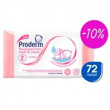 Proderm Μωρομάντηλα Fresh & Clean 1-3 Ετών 72Παν -10% Baby Care, Personal Care, Self Care, Personal Hygiene