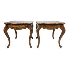 Pair of Baker French Style Side Tables - Image 1 of 7