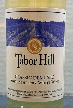 Michigan (Tabor Hill Winery NV Classic Demi-Sec)  Read about it here: http://ofmaltandmerlot.tumblr.com/