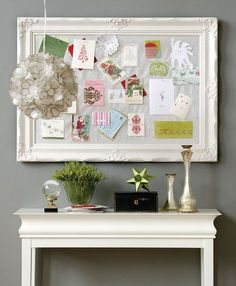 bulletin board - LOVE this idea for an art room or for displaying kids' art at home instead of it being slathered all over the fridge.
