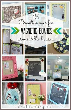Creative uses for magnetic boards around the house #magneticboards #organizing