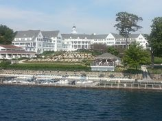 The beautiful Sagamore resort in Bolton Landing as seen from the Lac du Saint Sacrament boat cruising on Lake George