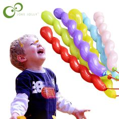 10pcs/lot Multicolor Twist piral Latex Balloons Toy