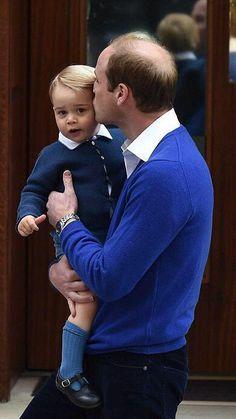 prince william avec le prince Georges