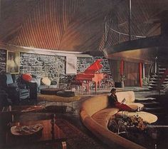 "Mid-Century architecture: the ""Round House"" (Aurora, Illinois, designed by Bruce Goff - 1957)"
