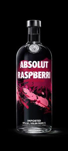 Absolut Vodka Revamps Flavor Range — The Dieline - Branding & Packaging Absolut Vodka Flavors, Tequila, Raspberry Vodka, Bottle Packaging, Bottle Design, Packaging Design, Print Packaging, Wines, Vodka Bottle