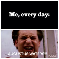 Not exaggerating when I say everyday. Divergent Funny, Divergent Quotes, Tfios, Cry Like A Baby, John Green Books, Augustus Waters, Looking For Alaska, Ya Novels, Veronica Roth