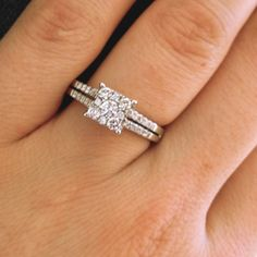 My engagement ring. Princess cut engagement ring .. Love it
