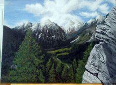 Created by: Kovácsné Sz. Éva - Switzerland - on the way to St. Moritz,  acrylic,30x40 cm canvas. Original photography: Kovácsné