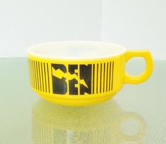 Vintage Soup Bowl Personalized for Ben   BRIGHT by BeppieandEido