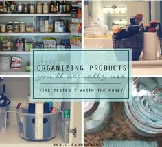 Organizing products that you'll actually use! Love these new ideas.