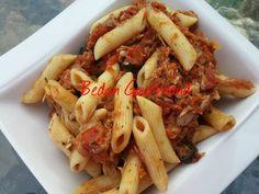 Spaghettis, sauce aux tomates et au thon