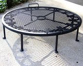 """Rugged Firepit stand, Dutch Oven, Heavy Duty, extra LARGE 12 qt, 17-20"""" skillets, MADE to ORDER. $99.00, via Etsy."""