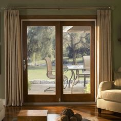 blinds to go plantation shutters kitchen curtains window shades vertical blinds drapes valance Patio Door Drapes, French Door Curtains, French Doors Patio, Patio Doors, Kitchen Curtains, Drapes And Blinds, Blinds For Windows, Windows And Doors, Sliding French Doors
