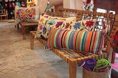 modern home decor Diy Pillows, Decorative Pillows, Cushions, Deco Ethnic Chic, Mexican Interior Design, Mexican Home Decor, Soft Furnishings, Boho Decor, Sweet Home