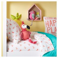 Flamingo Throw Pillow - Bright Pink - Pillowfort™