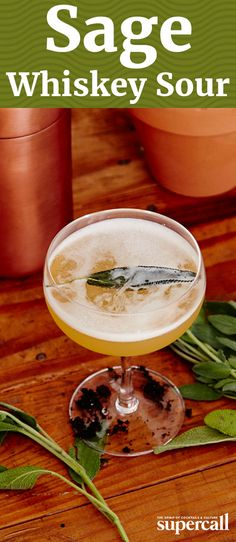 This herb-tastic variation on a Whiskey Sour combines the smooth, honeyed flavors of Powers Irish whiskey with floral St-Germain and a fresh sage syrup for herbal, savory perfection in a glass.