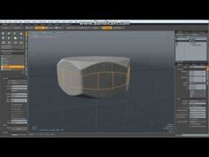 Luxology modo - Modeling a Nut with inside threads (Part 2/2 The actual tutorial) - YouTube