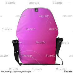 Hot Pink Courier Bag
