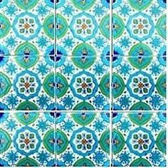 Shop for Fatima Blue Design Accent Ceramic Tiles (Set of Get free delivery On EVERYTHING* Overstock - Your Online Home Improvement Shop! Get in rewards with Club O! Waterline Pool Tile, Tile Patterns, Islamic Patterns, Geometric Patterns, Blue Backsplash, Tile Stores, Calming Colors, Turkish Art, Exterior House Colors