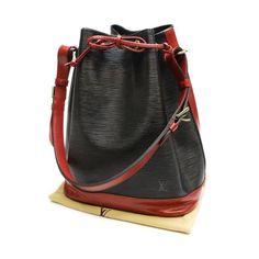 Louis Vuitton Noe Epi Shoulder bags Black Leather M44017