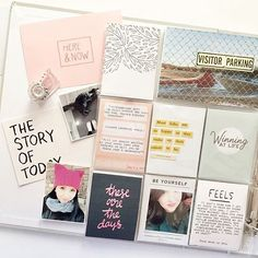Some lunch time inspiration, love this layout by @morganbeal using cards from the new W–17 layout!