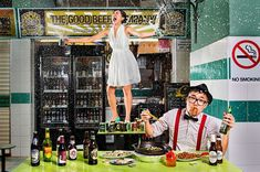 Spraying beer engagement photo! Engagement Shoot Inspiration: 15 Couple Poses You've Just Got To Try!